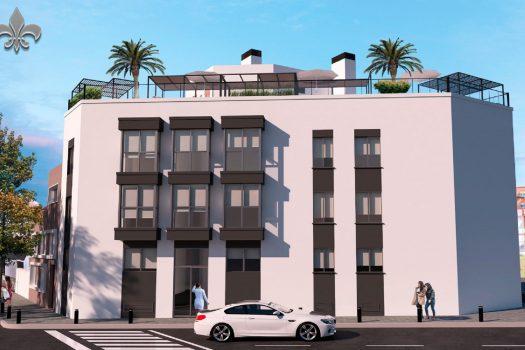 Edificio de obra nueva de viviendas en Alcorcón. Pisos de 1 y 2 dormitorios en el centro de Alcorcón.